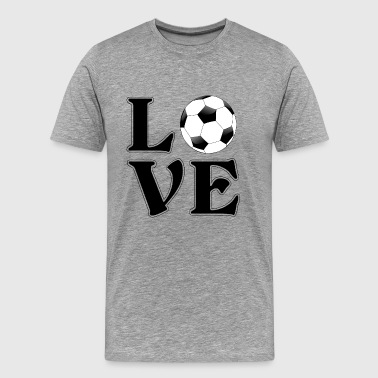 I love football - soccer gift - Men's Premium T-Shirt
