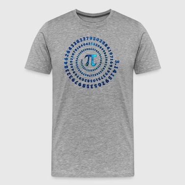 Cosmic Pi Spiral, Mathematics, Pi Day, Universe - Men's Premium T-Shirt