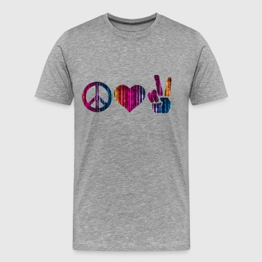 love and peace and peace - Men's Premium T-Shirt