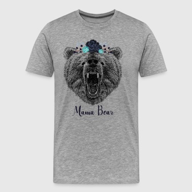 Cool Floral Mama Bear Wild Grizzly Bear Funny Gift - Men's Premium T-Shirt