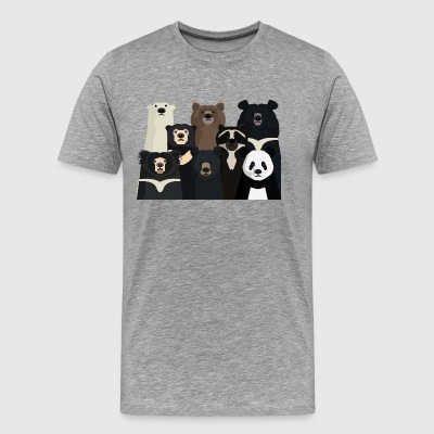 Bears of the World - Mannen Premium T-shirt