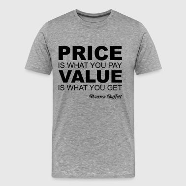 Warren Buffett Quote - T-shirt Premium Homme