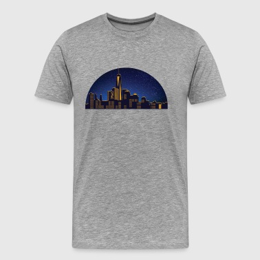 N.Y night skyline - Premium-T-shirt herr