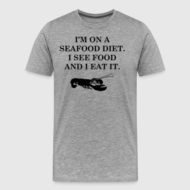 Diets with seafood - Men's Premium T-Shirt