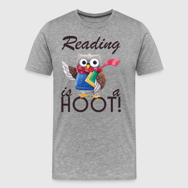 Cool Owl Reading is a hoot gifts for kid,librarian - Men's Premium T-Shirt