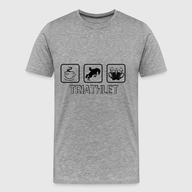 triathlete häst - Premium-T-shirt herr