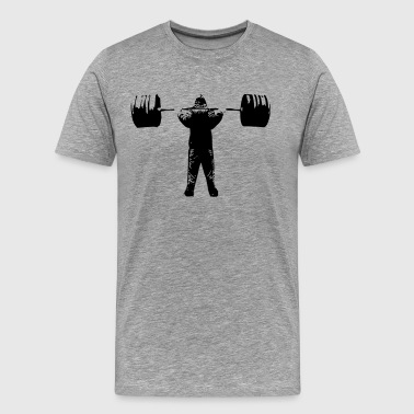 Squat Barbell - Men's Premium T-Shirt
