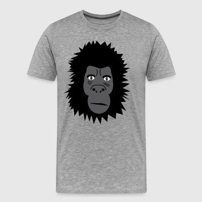 Gorilla | Monkey | Monkeys | The jungle Wilderness nature - Men's Premium T-Shirt