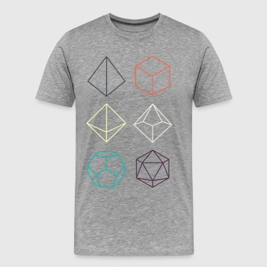 Minimal dnd (dungeons and dragons) dice - Men's Premium T-Shirt