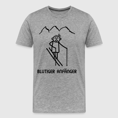 Skier Sports d'hiver - Absolute Beginner - T-shirt Premium Homme