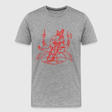 Ganesha Hindu god - Men's Premium T-Shirt