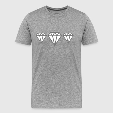 Diamonds - Herre premium T-shirt