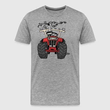 0143 red tractor 1255 - Men's Premium T-Shirt
