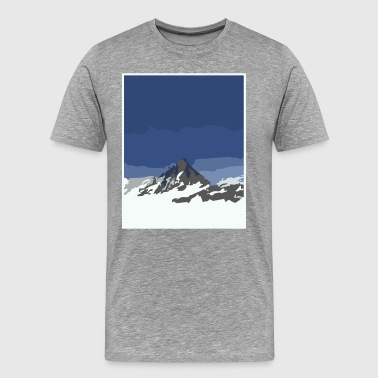 snowy mountain peaks - Men's Premium T-Shirt