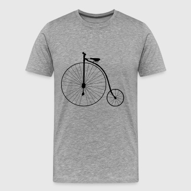 High Wheel Old School Retro Bicycle - Men's Premium T-Shirt