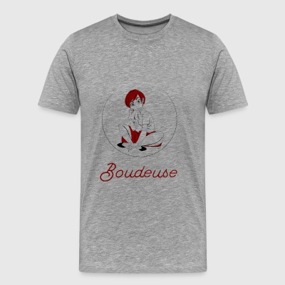 Boudeuse_bordeaux - Men's Premium T-Shirt
