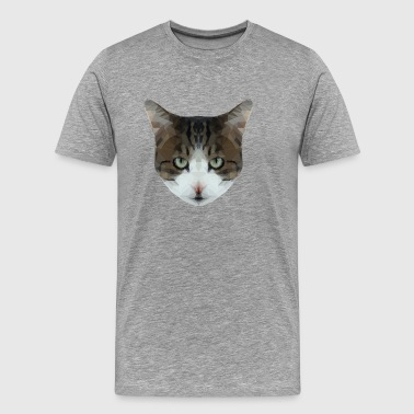 Low Poly Hipster Cat - Men's Premium T-Shirt