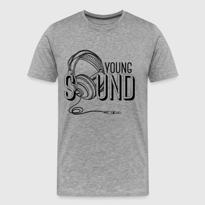 Young sound - cool music shirt with headphones - Men's Premium T-Shirt