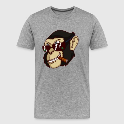 Pothead monkey stoned - Men's Premium T-Shirt