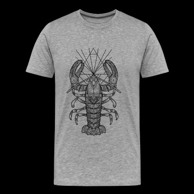 Geometric Lobster - Men's Premium T-Shirt