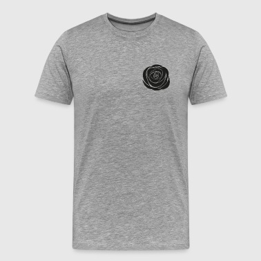 Black Rose - Premium-T-shirt herr
