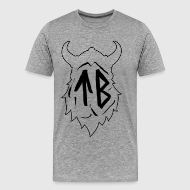 Rune Tiwaz and Bergan viking futhark - Men's Premium T-Shirt
