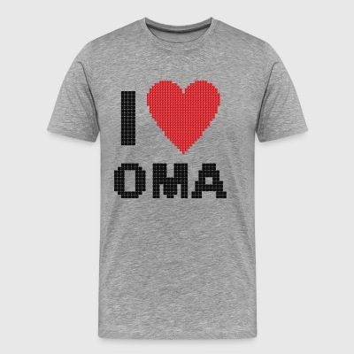 Grandma i heart love Omi Gifts for the grandmother - Men's Premium T-Shirt