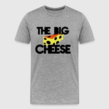 THE BIG CHEESE with swiss cheese (BOSS design) - Men's Premium T-Shirt