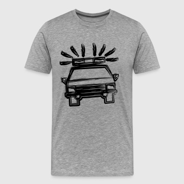 Police car as line drawing - gift idea - Men's Premium T-Shirt