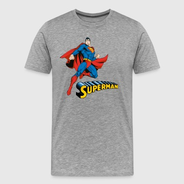 DC Comics Superman Pose Lettrage - T-shirt Premium Homme