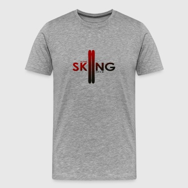 Alpine Skiing Black´n Red - Premium T-skjorte for menn
