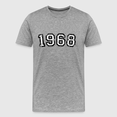 Year 1968 Birthday Design Vintage Anniversary - Men's Premium T-Shirt