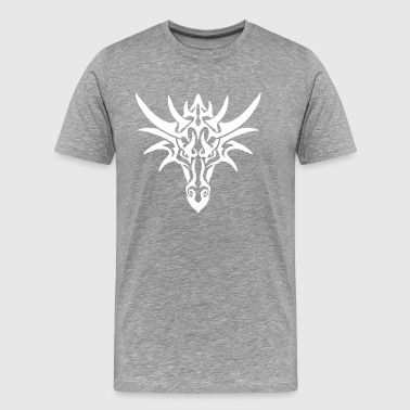Dragon blanc tribal - T-shirt Premium Homme