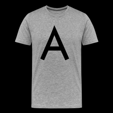 The A initial letter - Men's Premium T-Shirt