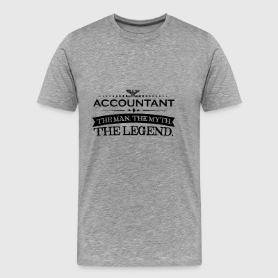 Man mythe legende gift ACCOUNTANT - Mannen Premium T-shirt