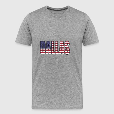 DALLAS USA - Mannen Premium T-shirt