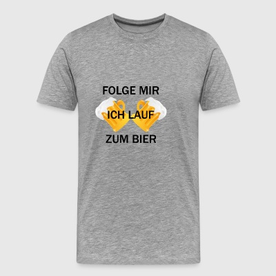 Run for Beer - Männer Premium T-Shirt