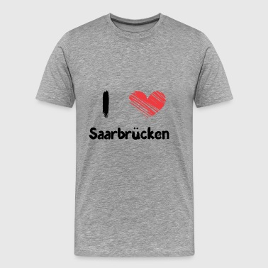 I love Saarbrücken - Men's Premium T-Shirt