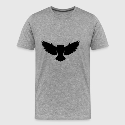 flying owl - Premium T-skjorte for menn