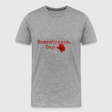 Mindedag. Red Poppy Gifts - Herre premium T-shirt