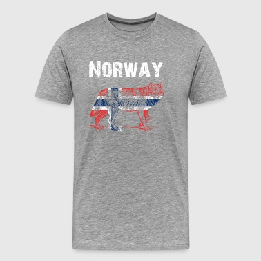 Nation-design Norge Wolf - Herre premium T-shirt