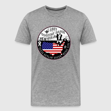i love country dance usa - T-shirt Premium Homme