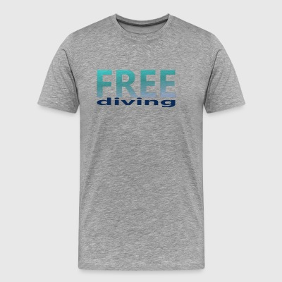 freediving - Premium T-skjorte for menn