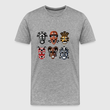 tribal masks - Men's Premium T-Shirt