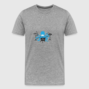 Funny squid drummer octopus drums - Men's Premium T-Shirt