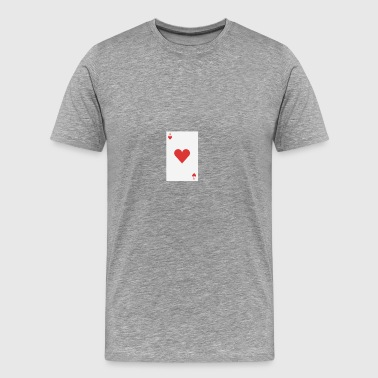 poker card - Herre premium T-shirt
