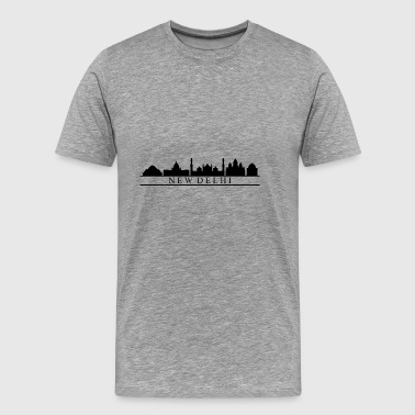 New Delhi skyline - Premium-T-shirt herr