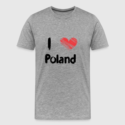 I love Poland - Men's Premium T-Shirt