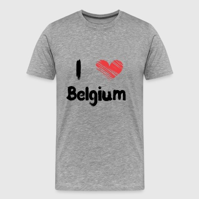 I love Belgium - Men's Premium T-Shirt