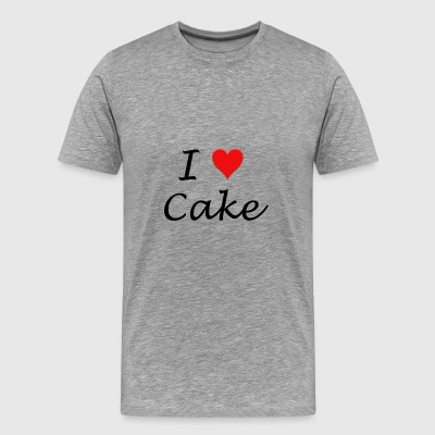 I Love Cake - Premium T-skjorte for menn